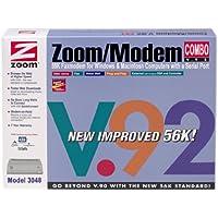 ZOOM Model 3048 External Serial 56K V.92 Fax Modem Combo ( Windows PC / Mac )