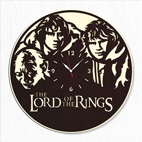 Lord of The Rings Wood Clock – Lord of The Rings Wall Clock – Best Gift for Fans Lord of The Rings – Original Wall Home Decor
