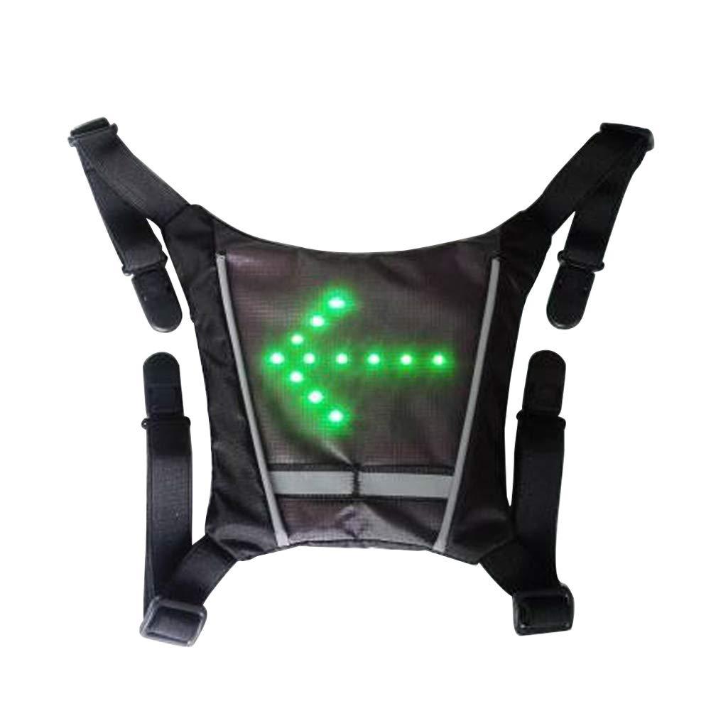 Jaune Pendentif Direction Lumi/ère LED Sac /à Dos Imperm/éable Equitation Gilet Portable Durable Signal Pratique