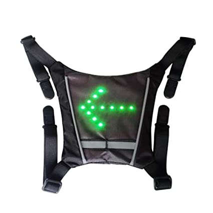 Bicycle Accessories Cycling 100% Quality Outdoor Hiking Camping Bicycle Led Safety Turnning Signal Light Backpack Signal Light Indicator Reflective Vest Bike Backpack
