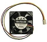 Sanyo Denki San Ace 60 60x60x25mm 5V DC 3Pin Fan Model, 109R0605H4011