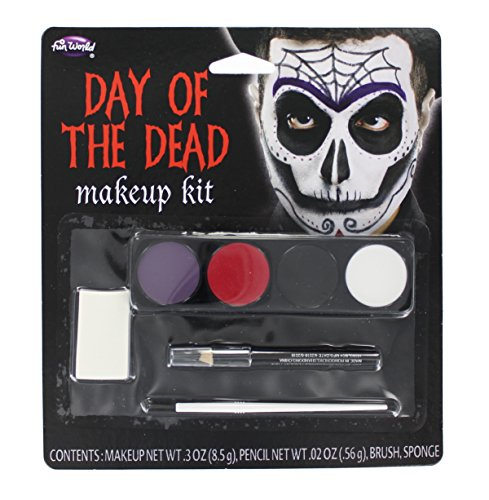 Day of the Dead Male Makeup Kit (Halloween Black And White Makeup)