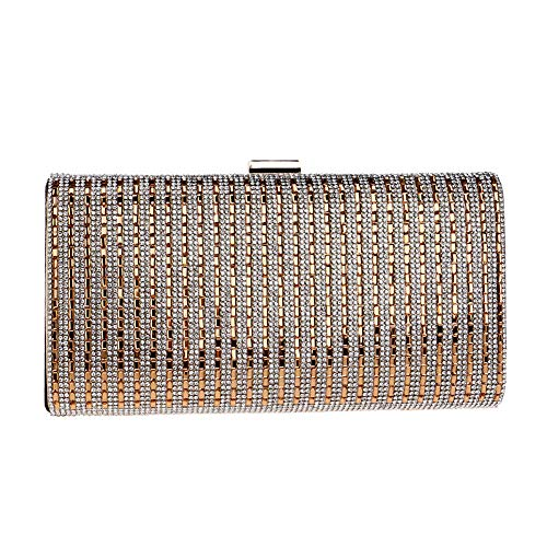 Dress Gold Bags Handbag Diamonds Chain Wedding Evening Purse Clutch For Womens nFvvqCS0w