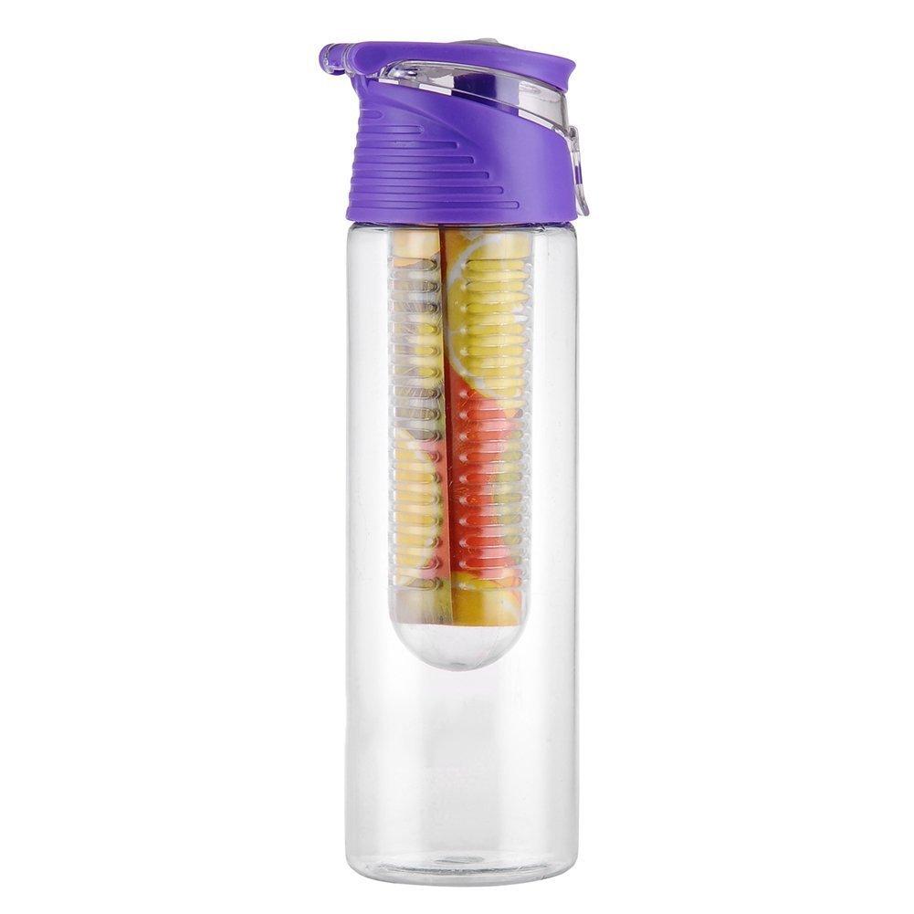ZN frutta acqua bottiglia con infusore per frutta Infusione per interni esterni Purplr Prezzi