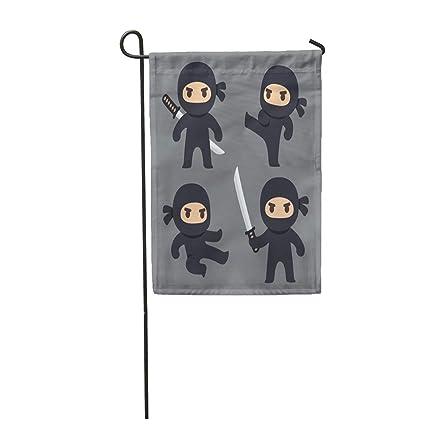 Amazon.com : Semtomn Garden Flag Anime Cute Cartoon Ninja ...