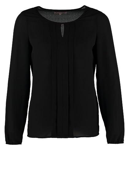 Top para mujer Anna Field tipo blusa, color negro, parte superior elegante de estilo