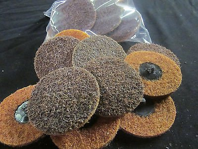 """20pc COARSE 3"""" SURFACE PREP CONDITIONING SCOTHBRITE ROLOC SANDING DISCS GRINDING from IIT"""