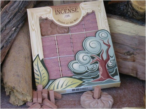 Cedar Wood Incense - 100 Bricks Plus Burner - Incienso De Santa Fe - incensecentral.us