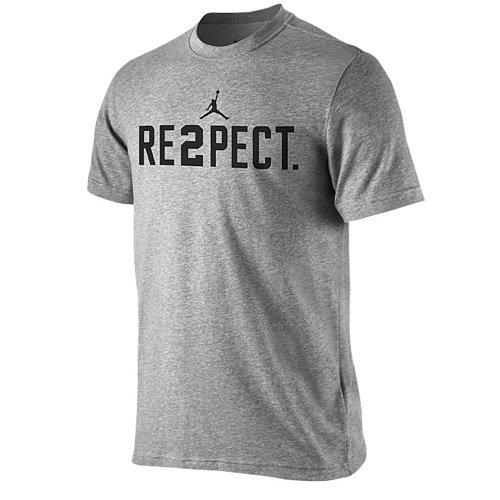 Nike Jordan Men's Re2pect Graphic T-Shirt 708586-063 Heather Grey (X-Large)