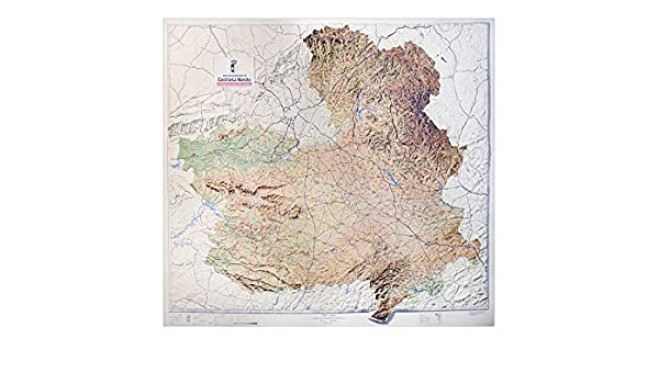 Mapa en relieve de Castilla La Mancha: Escala 1:400.000: Amazon.es ...