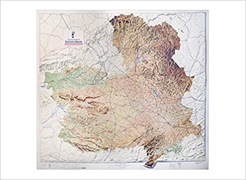 Mapa En Relieve De Castilla La Mancha Escala 1 400 000 Amazon Es