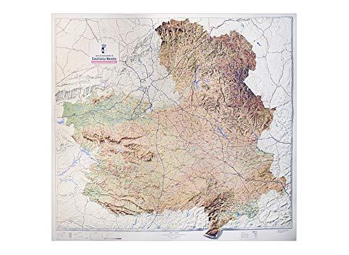 Mapa en relieve de Castilla La Mancha: Escala 1:400.000: Amazon.es: All 3D Form, S.L.: Libros
