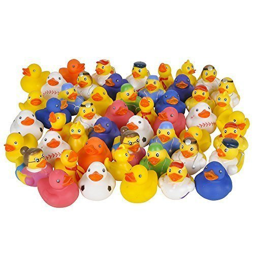 Kicko Rubber Ducks - 50 Assorted Pieces-2 Inch - for Kids, Party Favors, Gift, Birthdays, Baby Showers, Baby Bath Toys, Bath Time, Easter Party Favors, and More (50 Pack) by Kicko (Image #5)