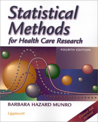 Statistical Methods for Health Care Research (Book with Diskette for Windows)