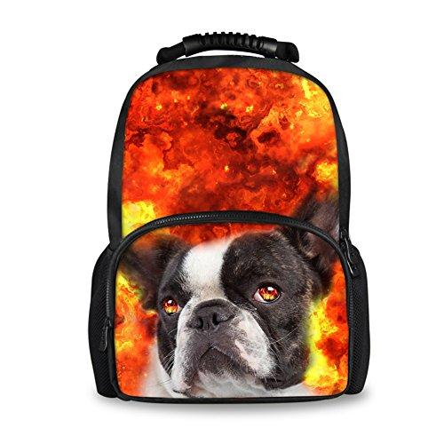 Terrier Womens Light - Coloranimal Children School Backpacks Boston Terrier Dog Pattern Women Travel Bags