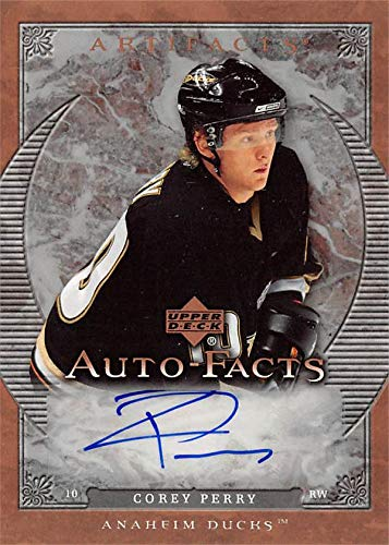 - Corey Perry autographed Hockey Card (Anaheim Ducks) 2007 Upper Deck Auto-Facts #AFPE