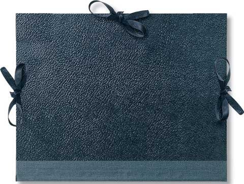 Daler-Rowney Cachet Classic Portfolio, Hard Cover with Cloth Ties, 14 x 18 inches, Black (471301418)