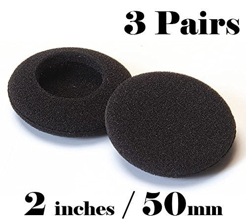 Eeejumpe 3 Pairs 50mm Headphone Earphone Earbud Ear Pad earpad Foam - Headphone Pads Foam