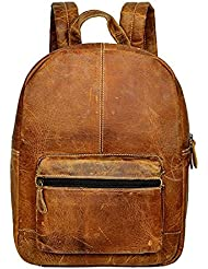 THE LEATHER ARTIST Genuine Leather Backpack Business Travel Daypack Fits 15.6 Laptop