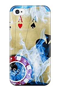 For ThomasSFletcher Iphone Protective Case, High Quality For Iphone 4/4s Poker Skin Case Cover wangjiang maoyi by lolosakes
