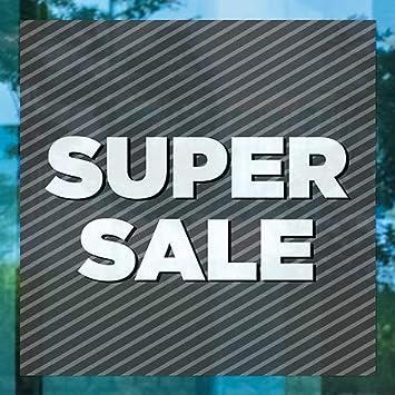 12x12 CGSignLab Super Sale Stripes Gray Clear Window Cling