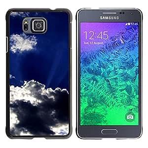 Paccase / SLIM PC / Aliminium Casa Carcasa Funda Case Cover para - Sun Clouds God Inspiring Sky Summer - Samsung GALAXY ALPHA G850