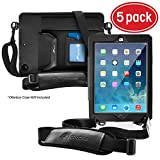 rooCASE 5-Pack Utility Sleeve Case with Breakaway Safety Carrying Strap for OtterBox Defender New 2017 iPad 9.7-inch and iPad Air 1 (First Generation 2014)