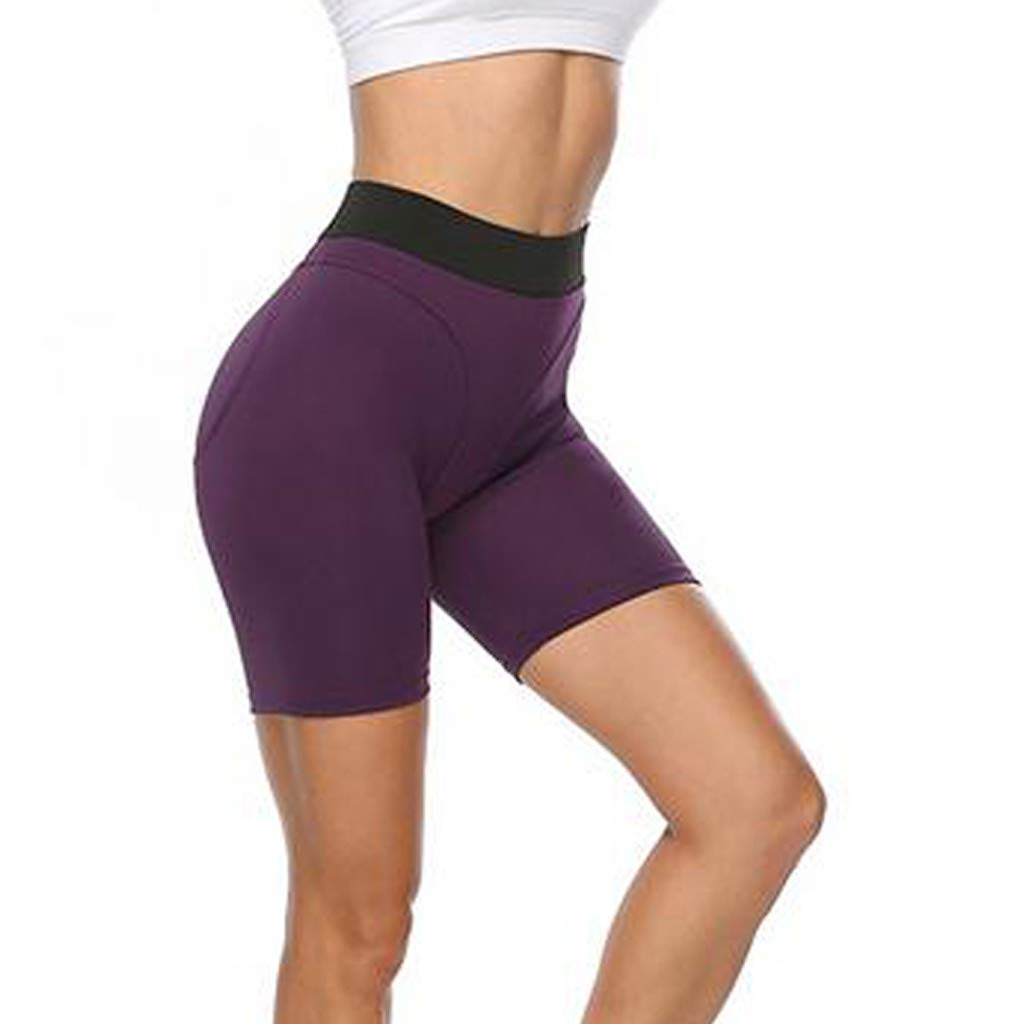 Printed Trainingshose S-XL Qiuday Yoga Hosen Yogahose Sporthose Damen Hohe Taille Bauchkontrolle Frauen Leggings Laufhose Fitnesshose Einfarbige Yoga-Shorts f/ür mit Hoher Sport Damen
