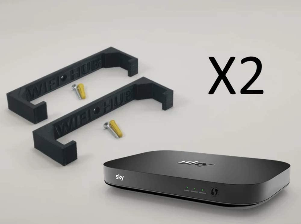 SKY Q HUB WIFI Router Internet Wall