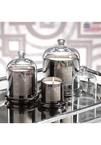 Zodax Apothecary Guild Scented Candle Jar with Glass Dome, Large, Platinum by Zodax