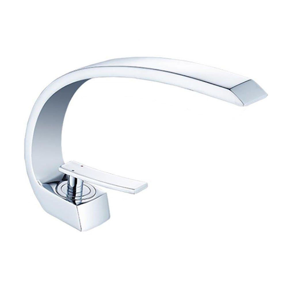 Inchant Messing Waschbecken Wasserhahn mit Zulaufschlauch bleifreies Einhebelmischer mit 1-handle Deck Mount Chrome Finish