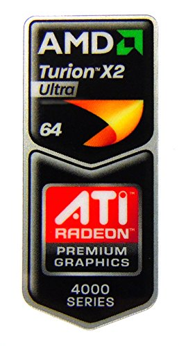 AMD Turion X2 Ultra 64 / ATI Radeon 4000 Series Sticker 18.5 x 43.5mm [425]