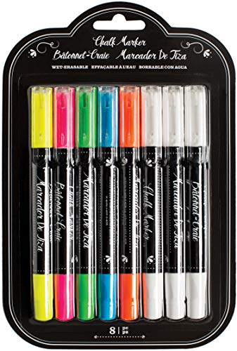 Erasable Chalk Markers by American Crafts | set of 8 markers, multi-color