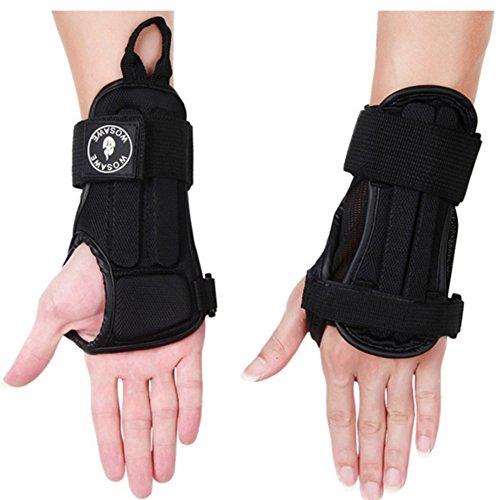 Joyutoy Adjustable Hand Brace, Wrist Wrap, Hand Support Carpal Tunnel Splint Arthritis Sprains Strain Best for Exercise, Martial Arts, Tennis, Bike, and Motorcycle (S)