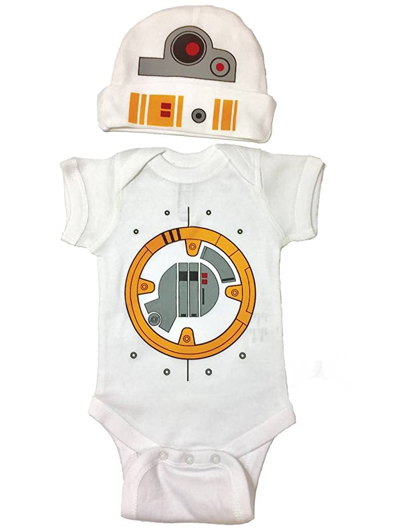 Star Wars Baby Boy BB8 Bodysuit Set Bodysuit and Hat BB8SETSS