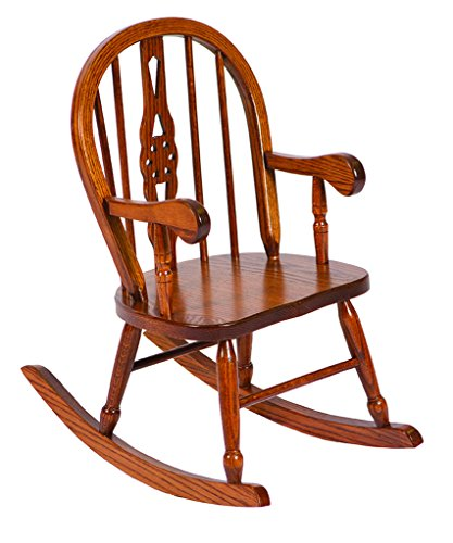 Windsor Childs Rocker (Heirloom Oak Child's Windsor Rocker)