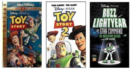Buzz Star Command Lightyear Of (Buzz Lightyear of Star Command + Toy Story + Toy Story 2 VHS)