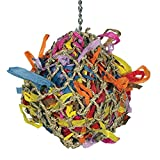 Sweet Feet and Beak Super Shredder Hanging Ball - Fun Toy That Will Keep Your Bird Busy for Weeks Foraging for Hidden Treasures - Toy Made for Medium Birds - 100% Safe to Chew