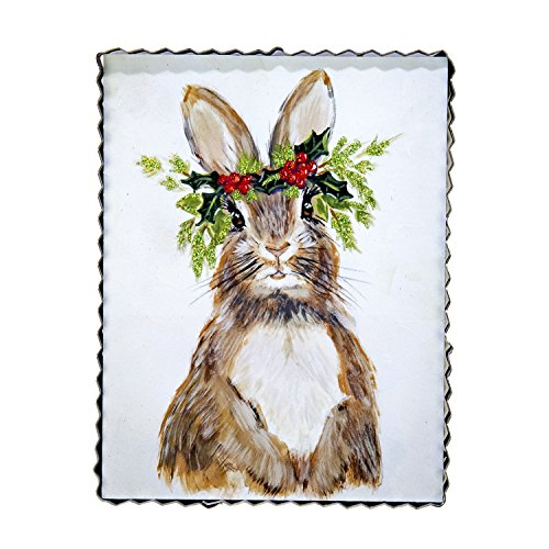 The Round Top Collection Woodland Flower Rabbit Art - (Round Top Collection Metal Art)