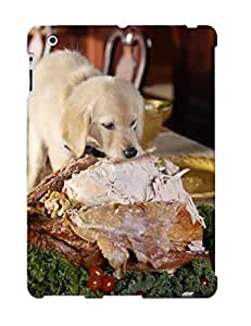 CpgomDR5111RcmCO Snap On Case Cover Skin For Ipad 2/3/4(even Puppy Eats Turkey In Thanksgiving )/ Appearance Nice Gift For Christmas