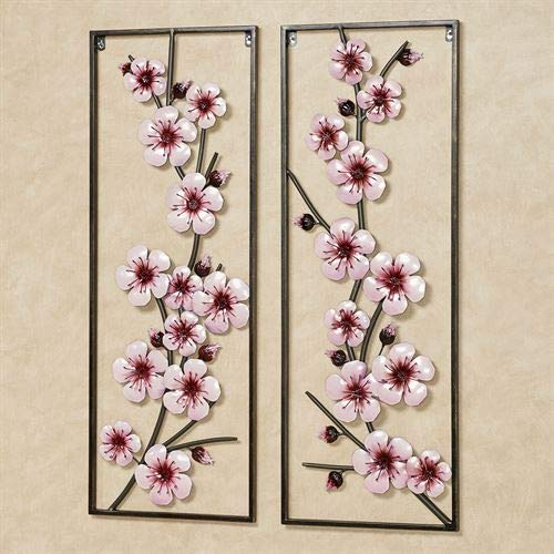- Cherry Blossom Wall Art Pink Set of Two