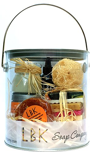 Deluxe Spa Gift Basket Mango Papaya Sensation by LBK Soap Company