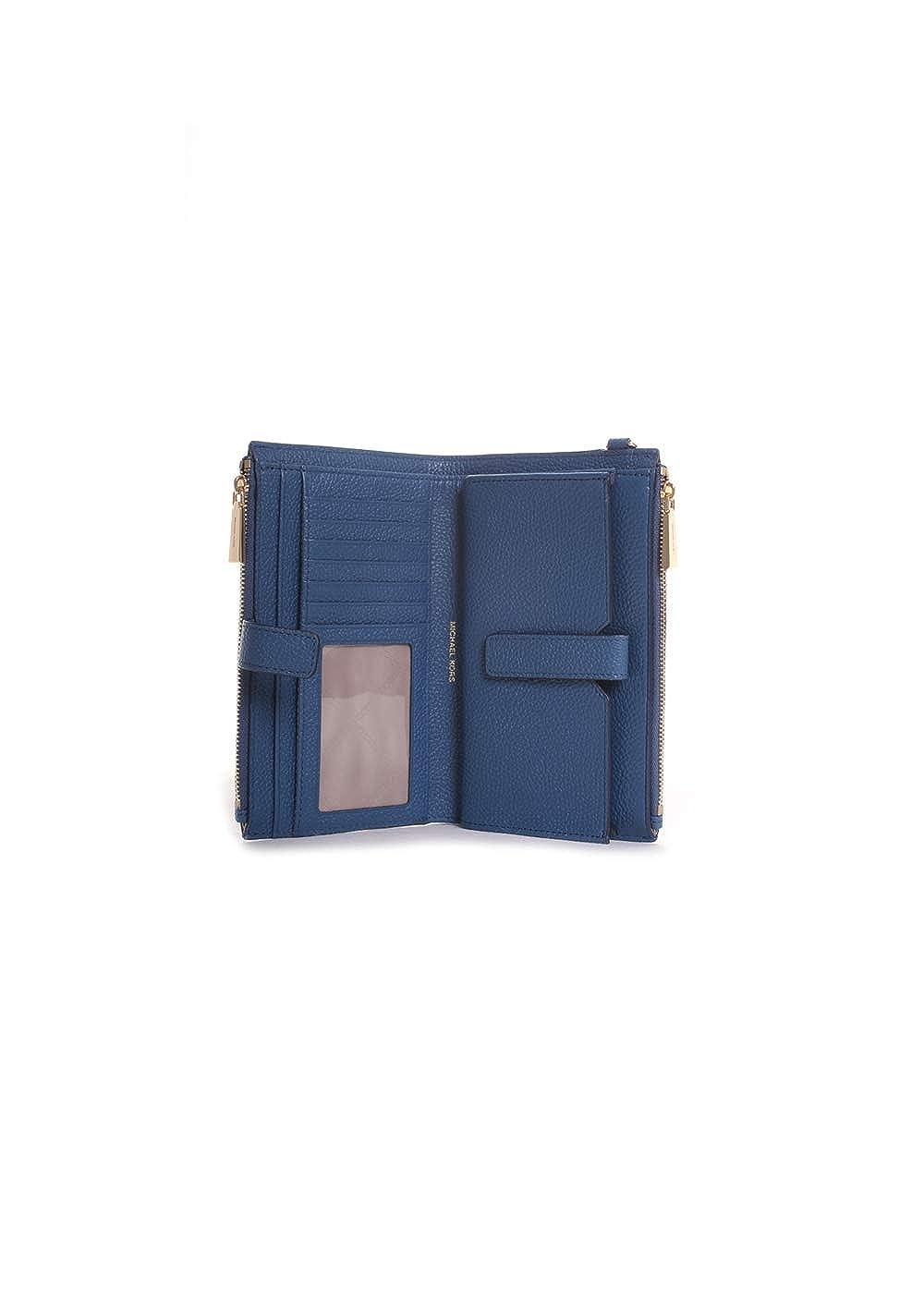 a9369b1de934 Amazon.com: Michael Kors Double Zip Leather Wristlet in Dark Chambray:  Clothing