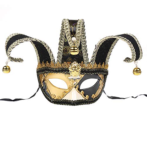 This Is Halloween Ringtone (BLEVET Venetian Masquerade Masks Half Face Halloween Mardi Gras Party Ball Costume Eye Mask BK014)