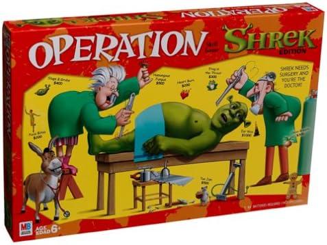 Milton Bradley Juego de Habilidad de operación – Versión Shrek ...