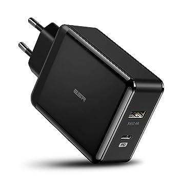 ESR 30W Cargador USB C con Power Delivery, 18W PD para iPhone 11/11 Pro/11 Pro MAX/XR/XS MAX/XS/X, Samsung S10/S10+/S10e/S9/S9+, iPad Pro 2018, 12W ...