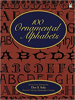 100 ornamental alphabets lettering calligraphy typography