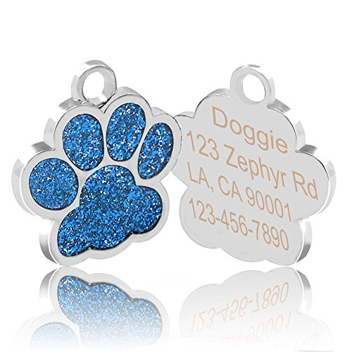 51N8FcCVD8L - Reopet Customized Dog ID Tags/Personalized Engraved Pet Tag for Small Medium Large Dog and Cat