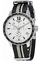 Tissot Quickster Chronograph Silver Dial Mens Watch T0954171703710