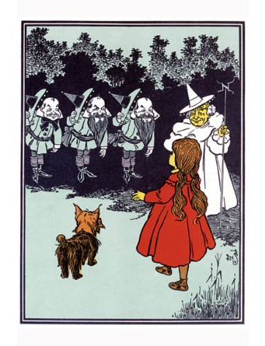 Dorothy Toto Good Witch, Munchkin Wizard of OZ Counted Cross Stitch Pattern